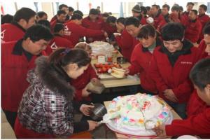 您的生日 我的祝福 记 鑫华新三月份员工生日生日会